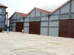 warehouse for rent at Pokuase Nsawam road 1068 square meters.